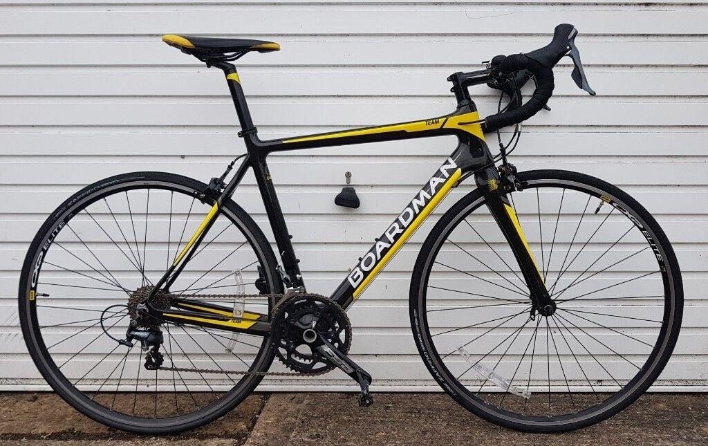 12a91935359 As-New Boardman Team Carbon Road BIke RRP £1000 +Receipt Mavic wheels SPD  pedals not giant cube trek