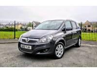 Vauxhall Zafira design 1.8 Petrol, Grey, 7 Seater warranted Low Mileage