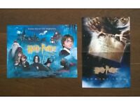 harry potter and the philosopher's stone ' two original ( mini quad ) film posters