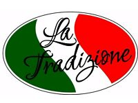 Chef with experience for Italian Bistro/ kitchen Porter and Waitress Urgent Required Full/partime
