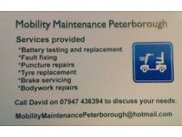 Mobility Scooter Maintenance Peterborough