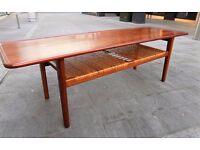 RARE DANISH COFFEE/SOFA TABLE DESIGNED BY HANS J. WEGNER FOR ANDREAS TUCK - 1950's