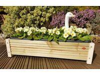 Handmade 63cm Decking Planter with legs and plastic trough Garden / Herb / Flower