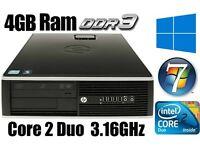 HP Elite PC Desktop, C2D 3.16GHz, 250GB HD,4GB Ram DDR3