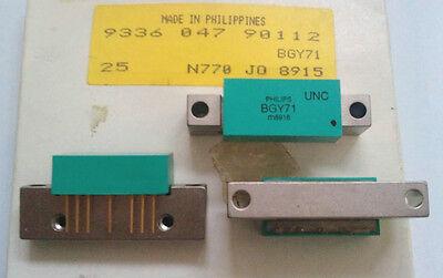 Usado, 2 Pieza BGY71 Amplificador Transistores Philips (Vintage) segunda mano  Embacar hacia Mexico
