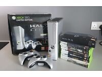 Xbox 360 250GB (Halo Reach Limited Edition) + 10 games + 2 x Wireless Pads