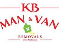 KB MAN & VAN REMOVALS BRADFORD **FULLY INSURED**XLWB**