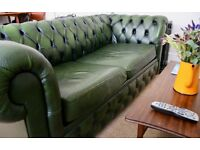 Chesterfield Two-Seater Sofa Bed (Green)