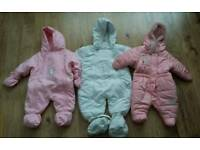 Baby snow suits (girls/unisex)