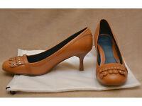 Clarks, ladies 2 inch skinny heels, size 5.5 UK, brown leather, worn twice, cheap £10