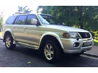 STUNNING ..MITSUBISHI SHOGUN SPORT 4X4 SW SPECIAL ED 3.0 V6 WARRIOR,LOW MILAGE,NEW MOT,EVERY EXTRA