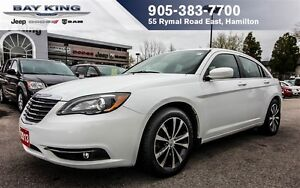 2013 Chrysler 200 S, AUTO, HTD SEATS, 18 WHEELS, PWR DRIVER SEAT
