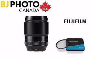 Fujinon XF 90mm F2.0R LM WR Lens - BUNDLE