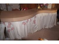 Curved Leather/Wood Modern Counter/ display table/ dining table