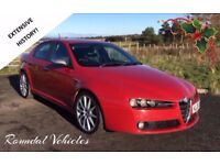 Stunning looking Alfa Romeo 159 Ti saloon 1.9 cdti model EXTENSIVE HIST and money spent, long mot !!