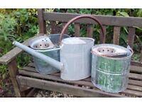 Set of 3 galvanised planters