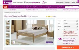 king size bed-Made from solid ash