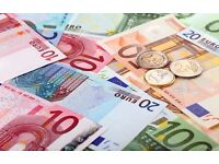 **EUROS WANTED - I WILL BUY YOUR LEFTOVER HOLIDAY EUROS**