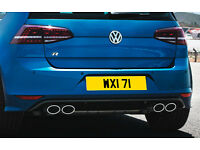 WXI 71 Personalised Number Plate Audi BMW Volvo Ford Evo Subaru Honda Toyota Kia GTI M3 RS