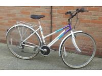 Classic 1990's Raleigh Pioneer ladies bicycle