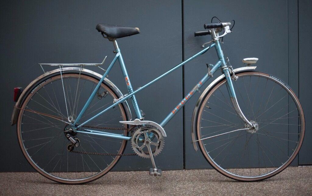beautiful vintage french peugeot record du monde mixte frame mensladies town bike new tyres - Mixte Frame