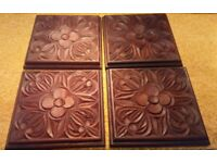 CARVED AFRICAN HARDWOOD TABLE MATS and COASTERS
