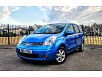 2007 Nissan Note Acenta, Blue, 1.4 Petrol, Warranted Low Mileage