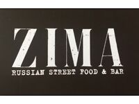 Zima Russian street food and bar is recruiting FOH staff