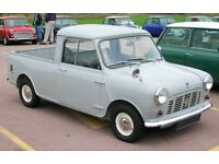 AUSTIN MORRIS MINI PICKUP WANTED FOR CASH FROM MINT RESTORED TO GARAGE/BARN FIND