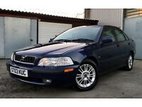 *** BARGAIN *** 2003 VOLVO S40 1.8L SALOON, MANUAL, LONG MOT, FULL HEATED LEATHER INTERIOR, CHEAP