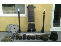 Weight bench and weights bundle