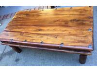 Wooden Coffee table and side table.