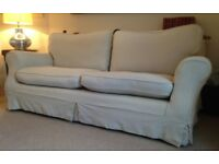 laura ashley three piece suite. 2x cambridge plain back chairs, 1x large kendal sofa