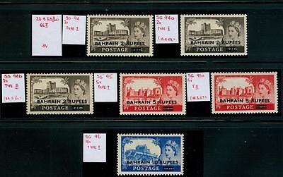 MOMEN: BAHRAIN STAMPS SG #94-96 MINT OG NH/LH Cat. £90