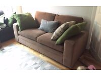 Gorgeous 2-3 seater sofa (from Next) for sale - oatmeal colour/ velvet-feel fabric
