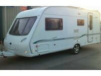 Bessacarr Cameo 525 SL luxury high quality touring caravan well equipped and in good condition .