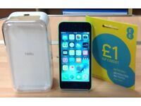 Used Apple iPhone 5c In Great Condition 16GB Model Screen Unmarked On EE Network With Box, plug lead