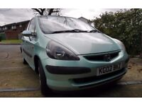 Honda Jazz Green 1.4 SE Sport 2002, only 64,900 miles. Manual. FSH. MOT end of April. Sunroof.