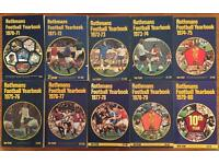 Collection of Rothmans / Sky Sports Football Yearbook 1970-71 (#1) to 2013-14 (#44)