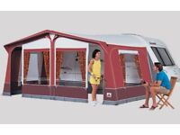 DOREMA CARAVAN AWNING FOR SALE - Burgundy & Grey - Good Condition - £100 (O.N.O)
