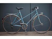 Beautiful Vintage French Peugeot Record du Monde Mixte Frame Mens/Ladies Town Bike NEW Tyres - 57cm