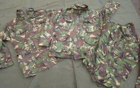 British Army Jacket in woodland DPM Issued, Used grade1 (womans/cadet sizes) ... 2 left