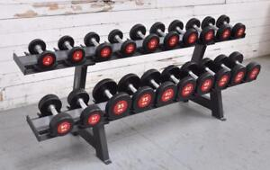 NEW eSPORT (es) COMMERCIAL URETHANE DUMBBELLS SETS 5lb-50lb $1375.00 and UP