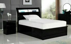 🤩👑 CLOSING SALE ON HUGE STORAGE WOODEN BEDS WITH LIGHTS & USB CHARGING PORT SINGLE DOUBLE KING