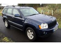 Jeep Grand Cherokee 3.0 CRD Auto 4x4 LOW MILES 85k, mot'd until 2017 Full service history, both keys