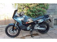 2008 KTM 990 Adventure with ABS, FSH, HPI clear, black, mileage 16k