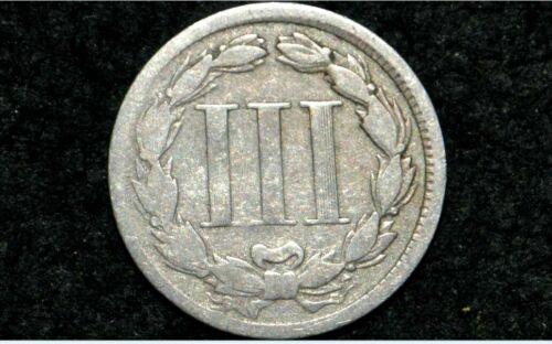 1867 Three Cent Nickel 3C ** VG Details **