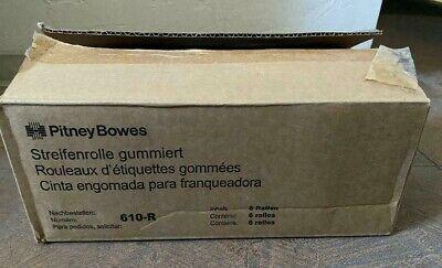 Genuine Pitney Bowes 610-r Postage Meter Tape - 6 Rolls Gummed Tape