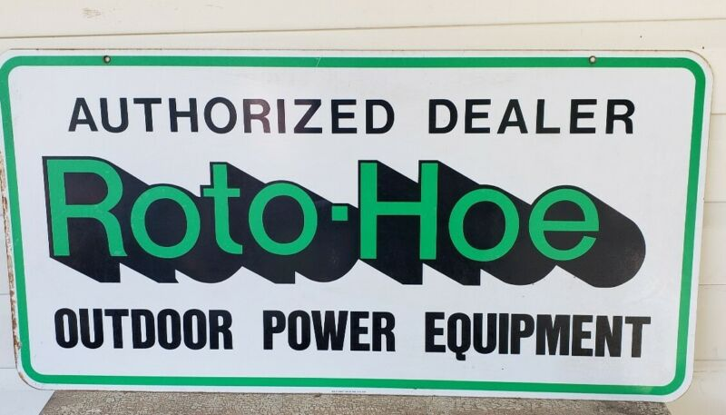 ROTO HOE AUTHORIZED DEALER TWO SIDED HEAVY METAL SCIOTO SIGN