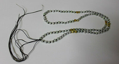 Hand Knotted String JADE Beads Necklace Thread Charm Pendant Jewelry Making #003